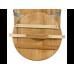 Кадка дубовая 30 л «Бонпос» (обручи из нерж. стали)