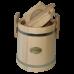 Кадка липовая 5 л «Бонпос» (обручи из нерж. стали)