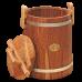 Кадка дубовая 15 л «Бонпос» (обручи из нерж. стали)