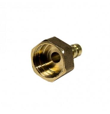 Штуцер под трубку 8 мм, внутренняя резьба 1/2, латунь