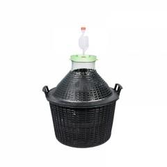 Комплект для браги (Банка в пластиковой корзине 34 л + гидрозатвор)