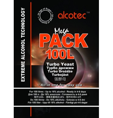 Дрожжи спиртовые Alcotec MegaPack (Алкотек МегаПак), 360 г