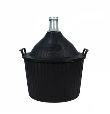 Бутыль в пластиковой корзине 34 л