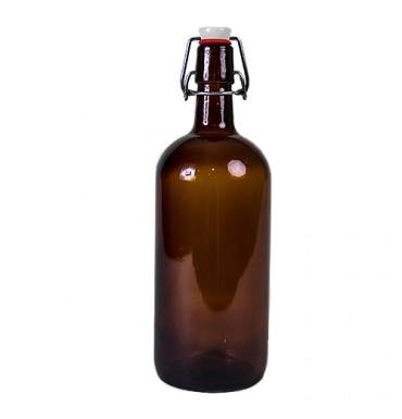 "Бутылка ""Бомба"" 1 л, темное стекло"