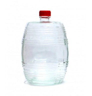 Бутыль Бариле, прозрачное стекло, 10 л